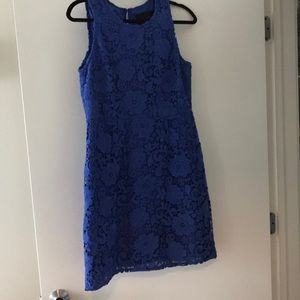 J. Crew blue lace dress